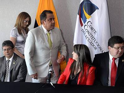 Miembros de la Corte Constitucional. Foto: EL UNIVERSO